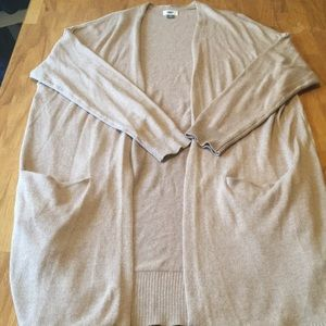 Old navy Extra long Beige open cardigan Size XXL